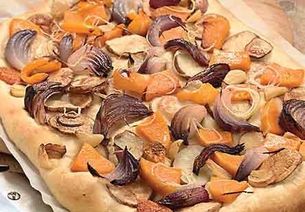 Roasted Harvest Vegetable Pizza