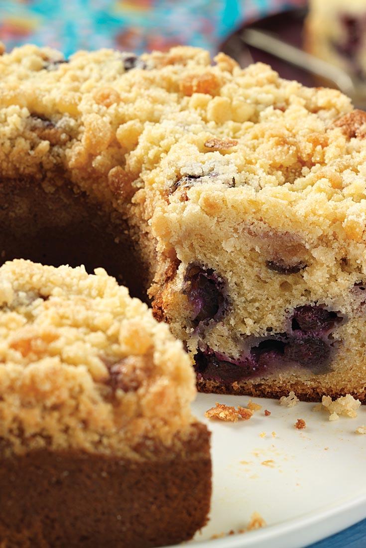 Blueberry Coffeecake with Lemon Streusel Recipe