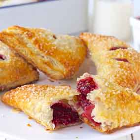 Raspberry Puff Turnovers