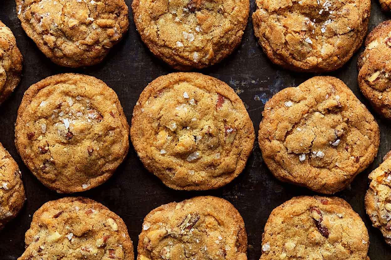 Salty Sweet Butter Pecan Cookies