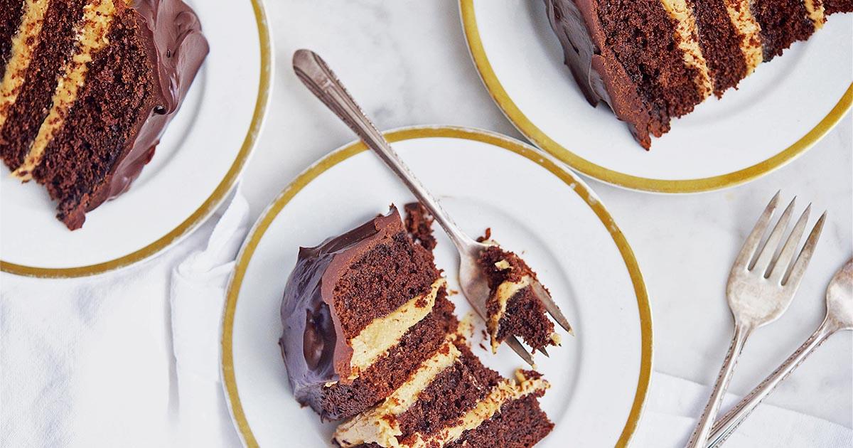 King Arthur Birthday Cake Recipe: Peanut Butter-Fudge Buckeye Cake Recipe