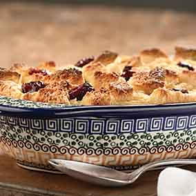 Italian Cherry Bread Pudding