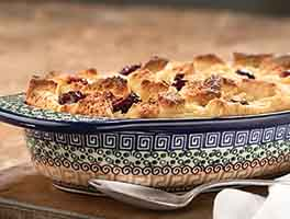 Italian Cherry Bread Pudding