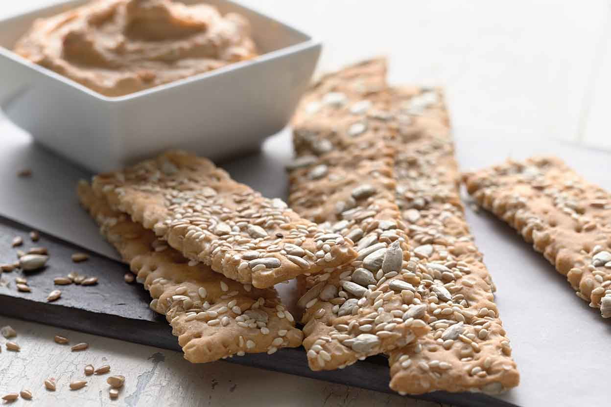 Wheat cracker toppings recipe