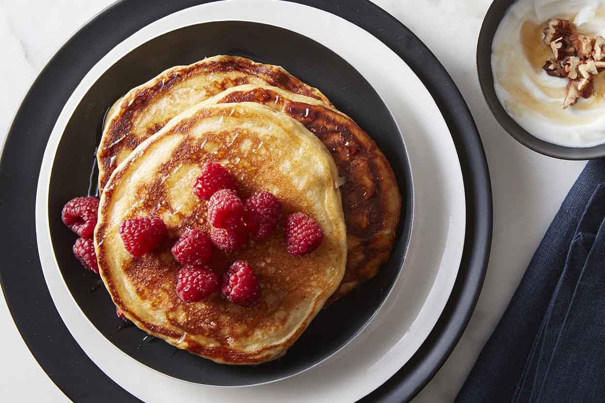 Simply perfect pancakes recipe king arthur flour oat and yogurt pancakes ccuart Images