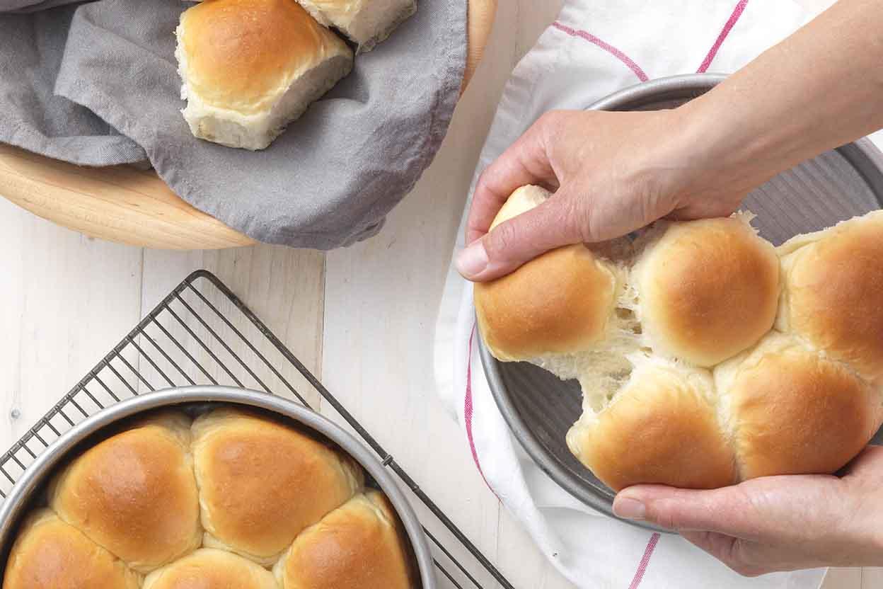 Golden Pull Apart Butter Buns Recipe King Arthur Flour