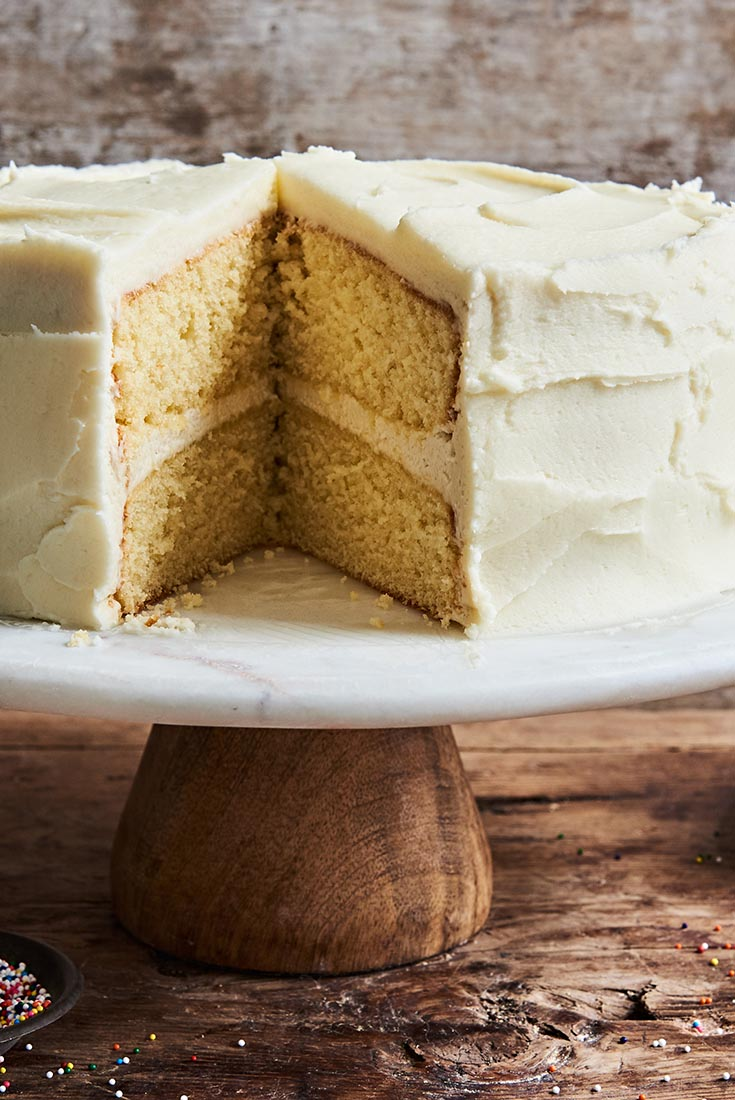 Golden Vanilla Cake Recipe King Arthur Flour