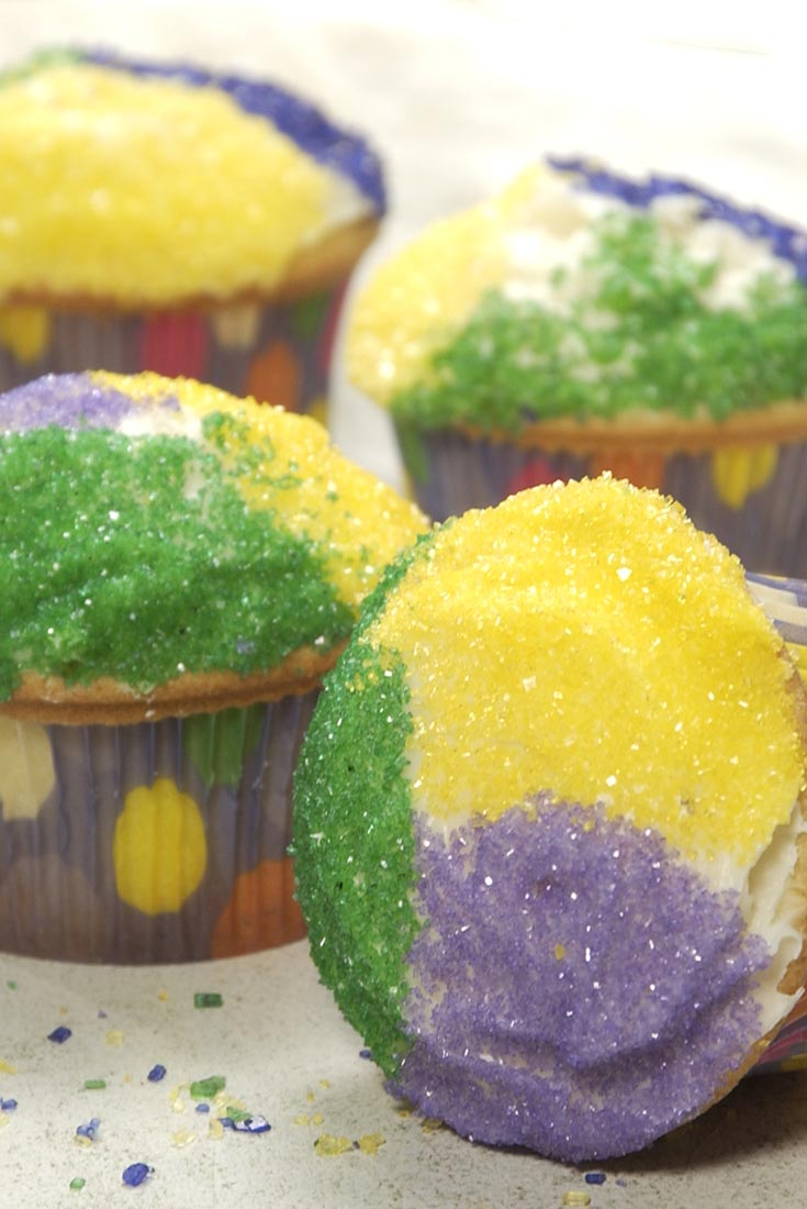 Mardi Gras King Cupcakes Recipe