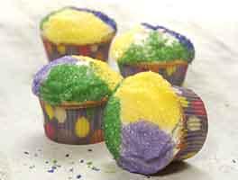 Mardi Gras King Cupcakes