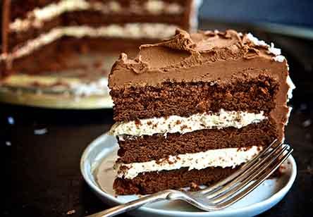Fudgy Coconut Cream Cake