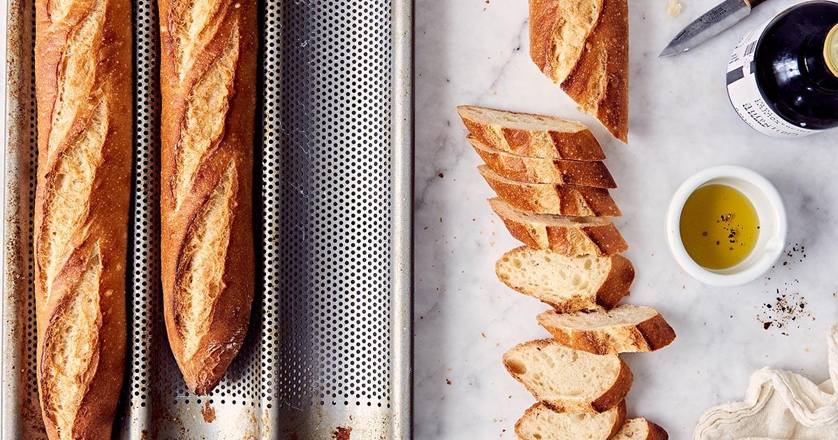 Baguette Pan Baguettes Recipe King Arthur Flour