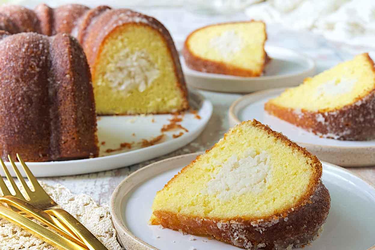 Coconut Filled Lemon Cake Recipe King Arthur Flour