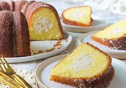 Coconut-Filled Lemon Cake