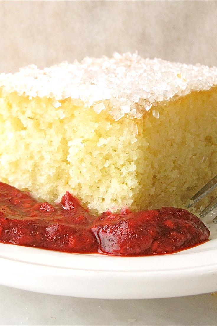 Raspberry Lime Rickey Cake Recipe