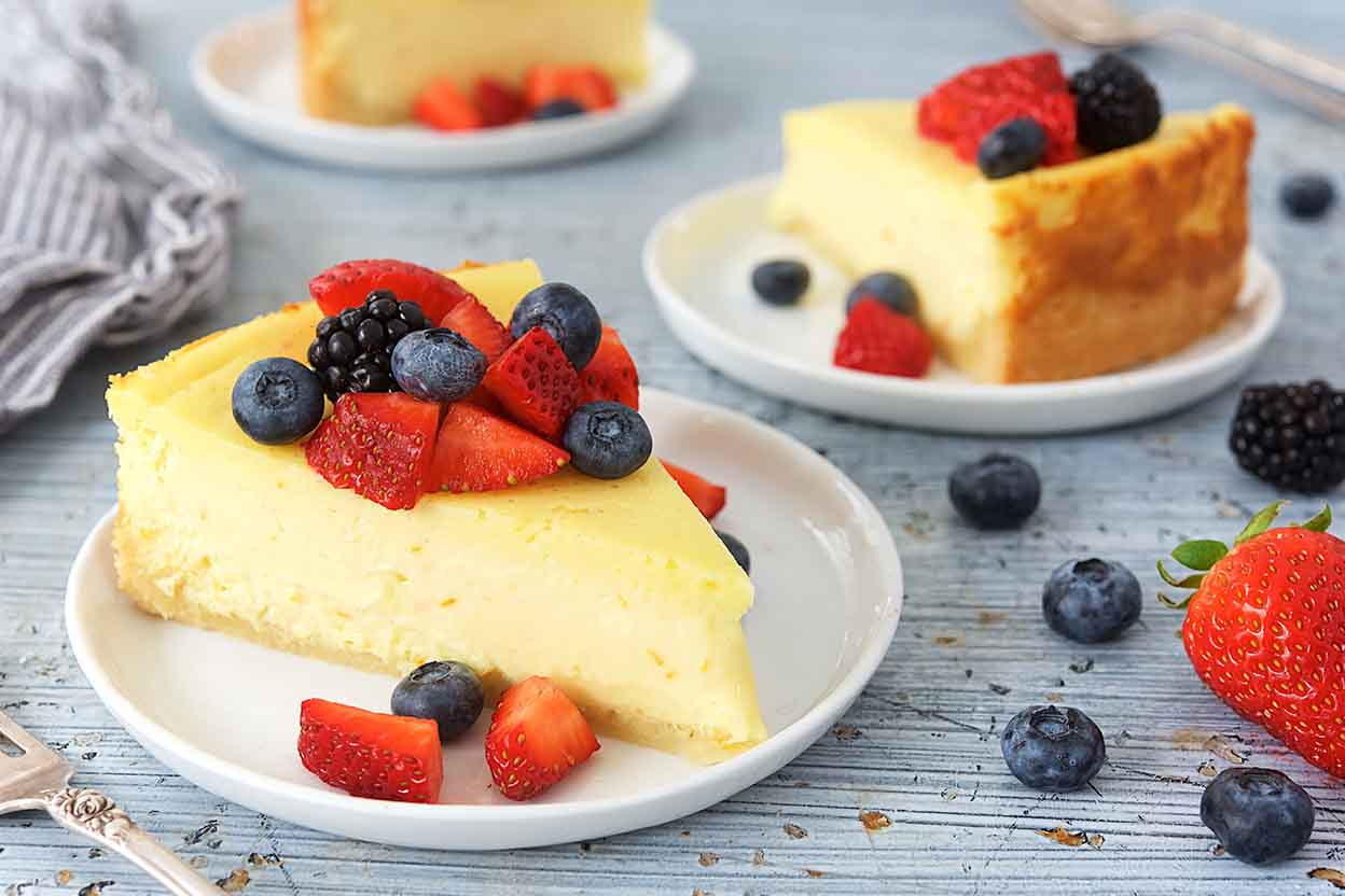 Creamy Vanilla-Orange Cheesecake Recipe | King Arthur Flour