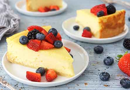 Creamy Vanilla-Orange Cheesecake