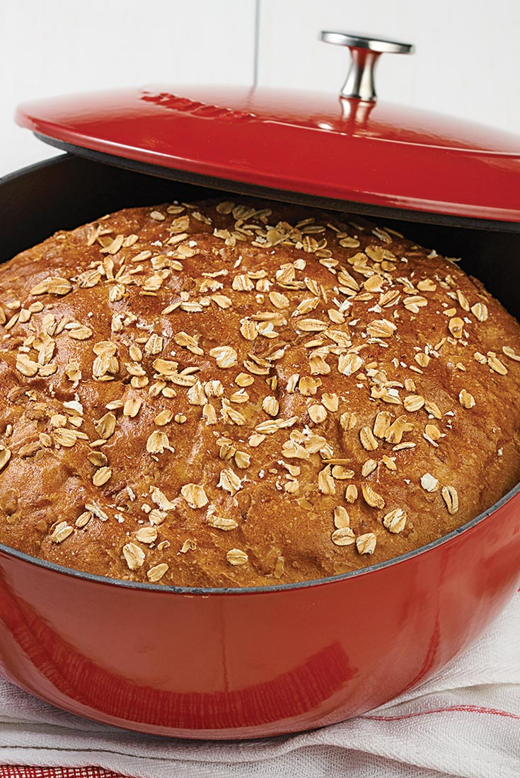 No-Knead Oat Bread Recipe