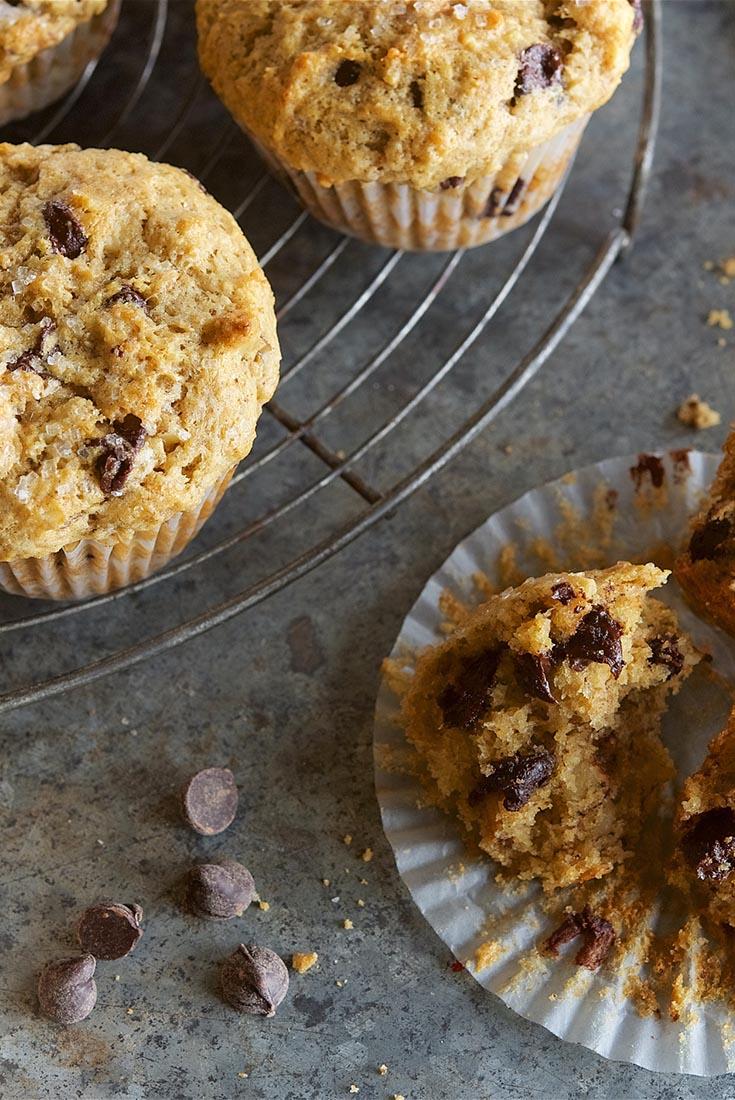banana chocolate chip muffins recipe king arthur flour. Black Bedroom Furniture Sets. Home Design Ideas