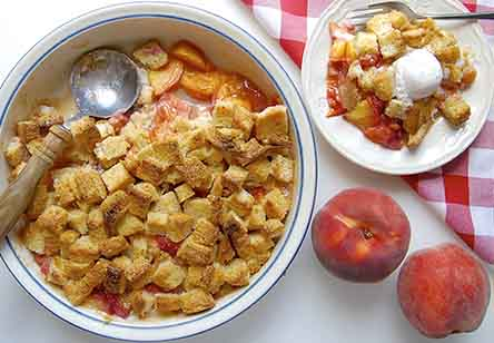 Just Too Easy Peach Cobbler