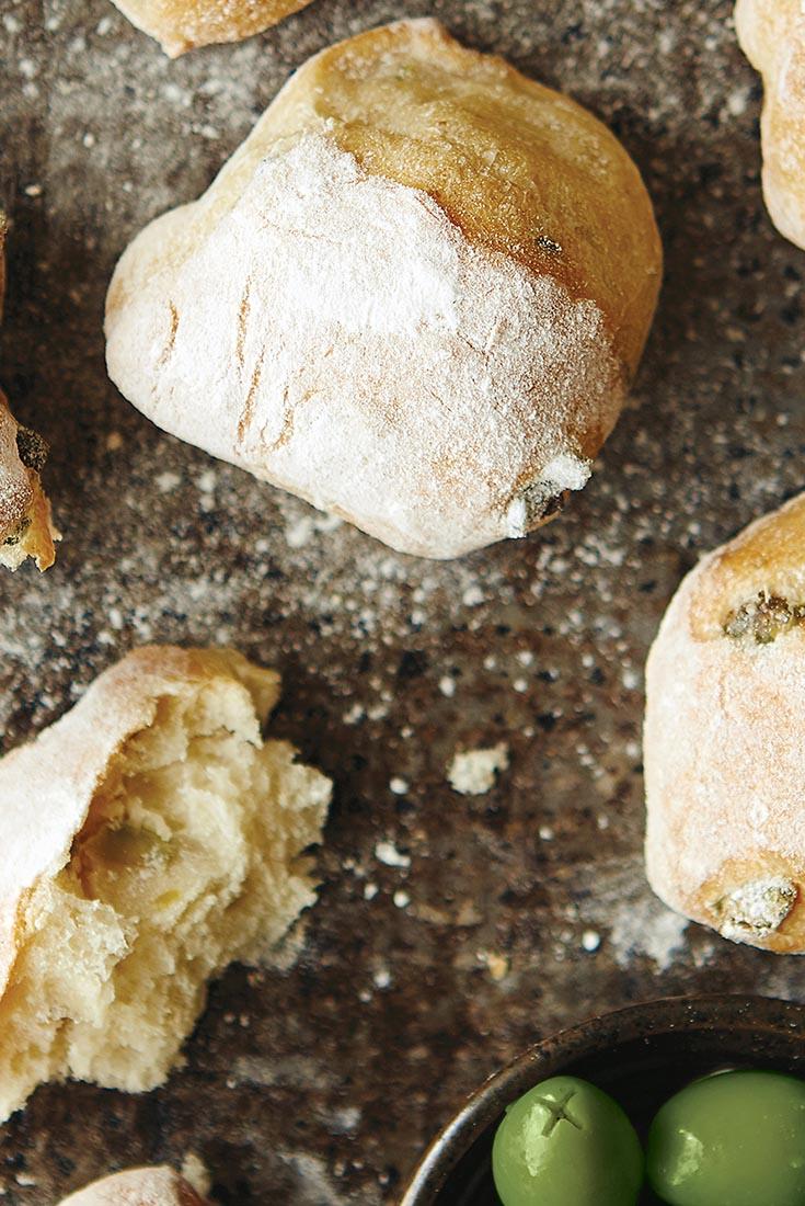 Rustic Olive Rolls Recipe