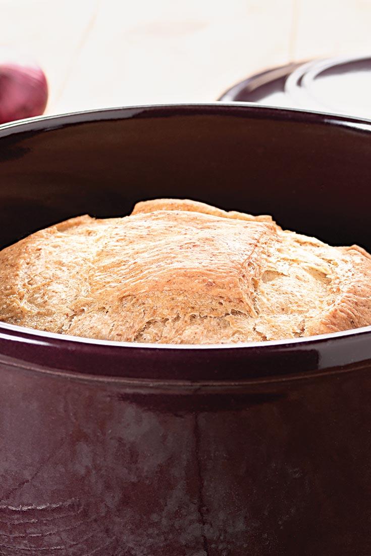 No-Knead Country Bread Recipe