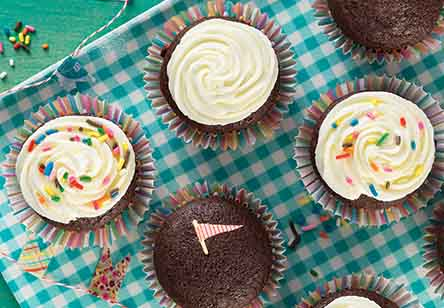 Bake Sale Fudge Cupcakes