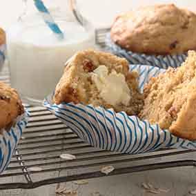 Oatmeal Jammy Bits Muffins