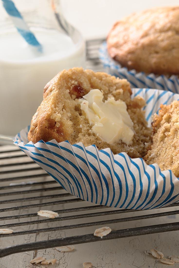 Oatmeal Jammy Bits Muffins Recipe