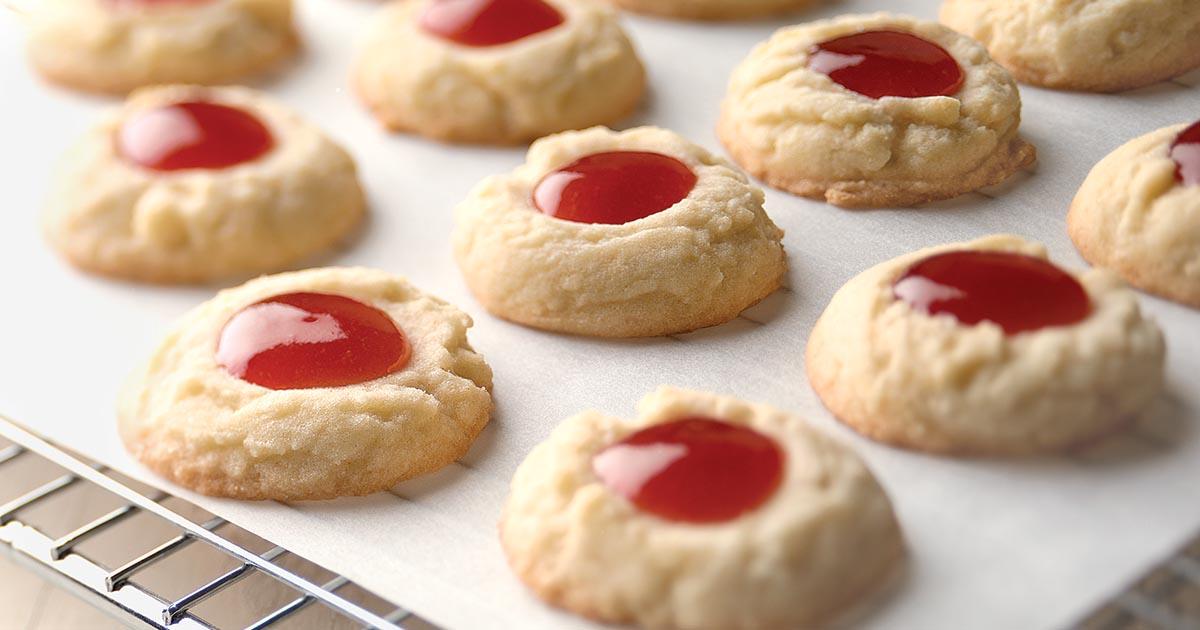 Lemon-Raspberry Thumbprints Recipe | King Arthur Flour