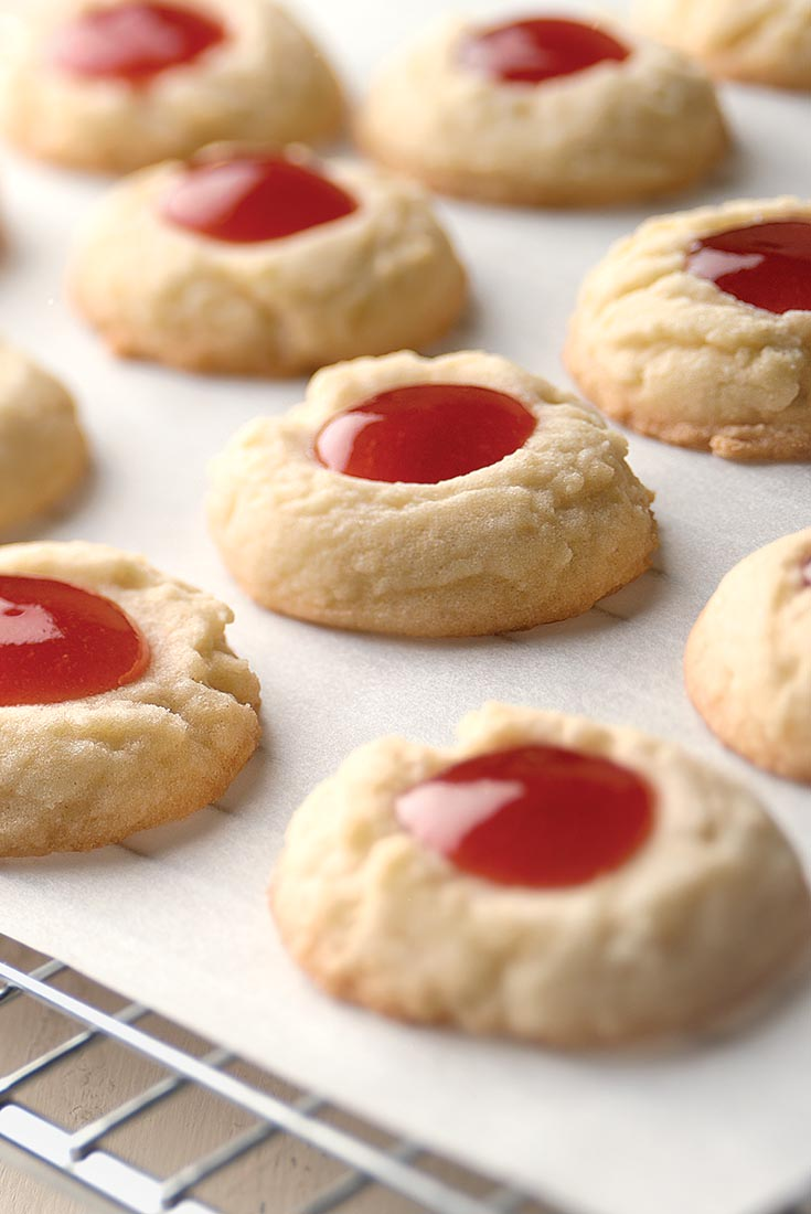 Lemon-Raspberry Thumbprints  Recipe