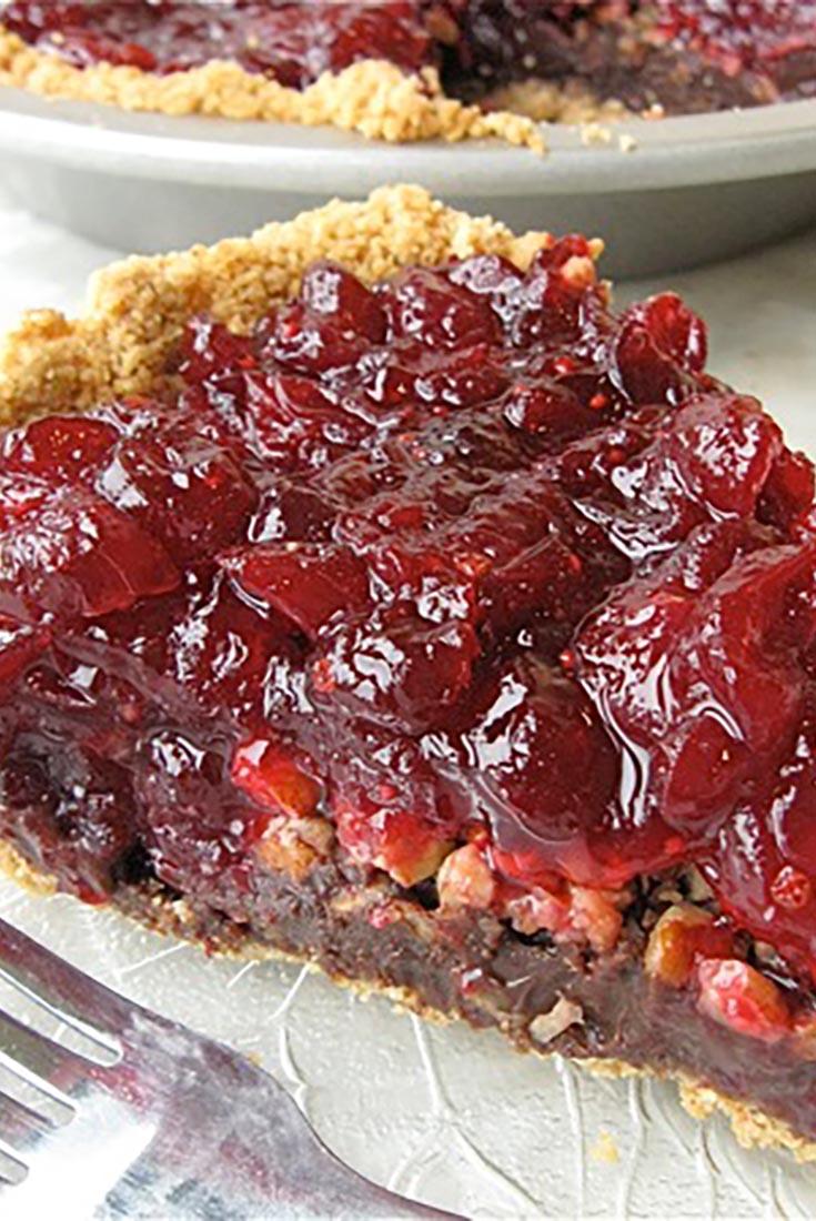 Cranberry-Fudge Pie Recipe