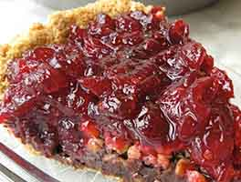 Cranberry-Fudge Pie