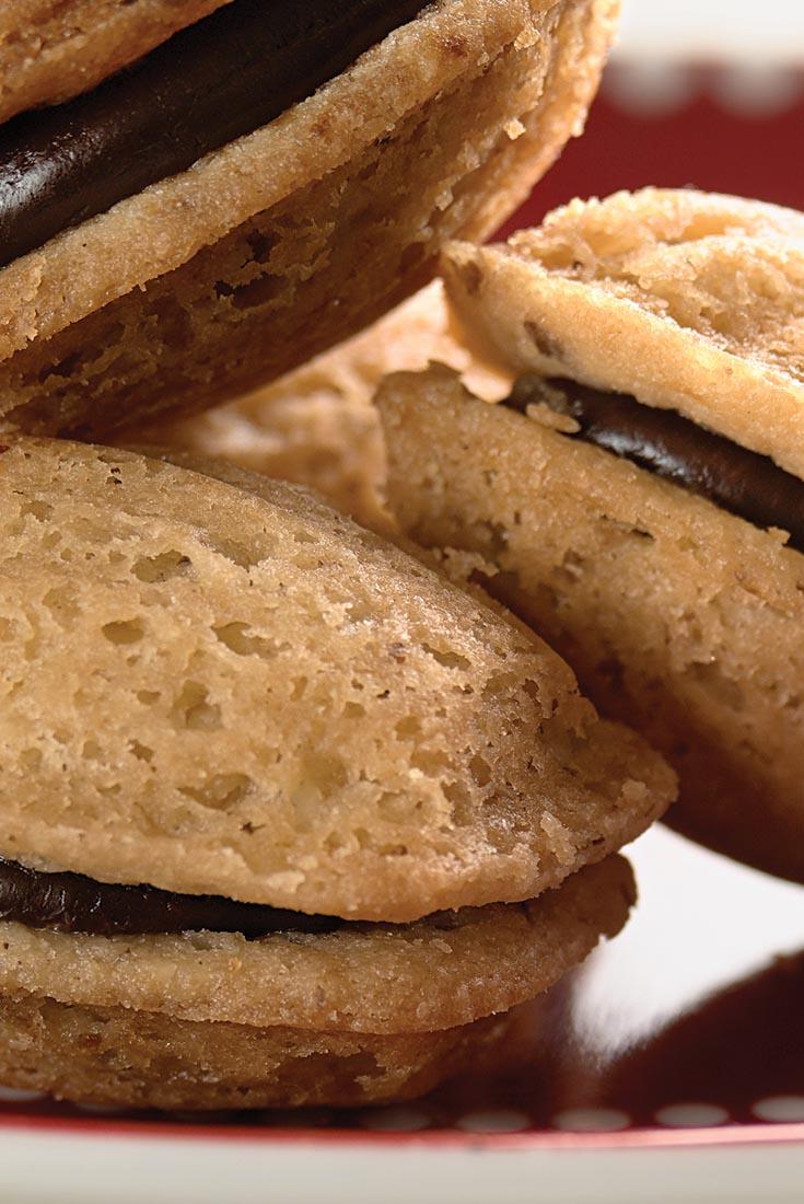 Chocolate Filled Walnut Madeleine Cookies Recipe King
