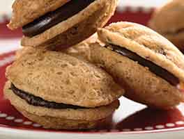 Chocolate-Filled Walnut Madeleine Cookies