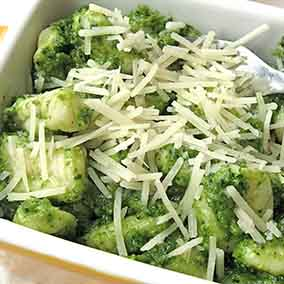 Potato Gnocchi with Parsley Pesto