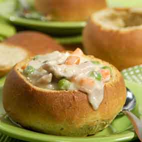 Stuffing Bread Bowls