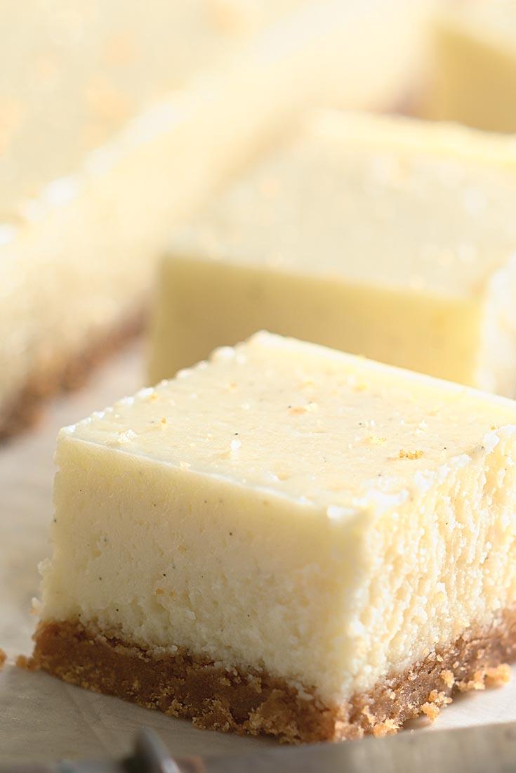 Vanilla Bean Cheesecake Bars Recipe