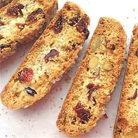 Cherry-Pistachio Biscotti