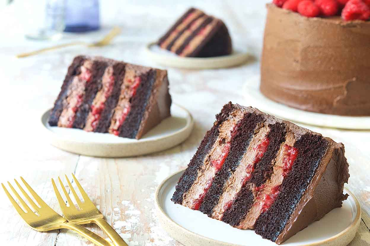 Chocolate Mousse Cake With Raspberries Recipe King Arthur Flour