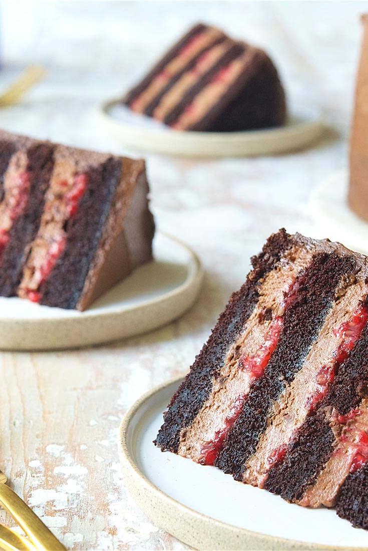 Chocolate Mousse Cake With Raspberries Recipe King