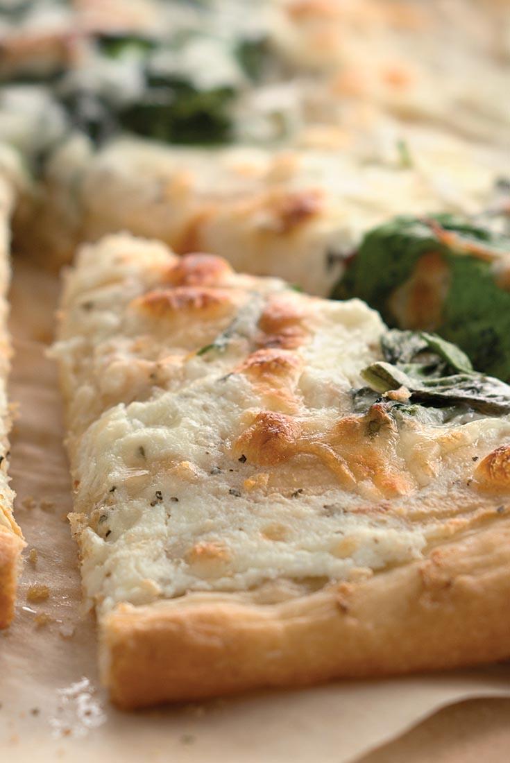 Spinach White Pizza Recipe
