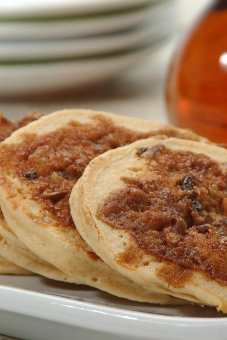 Cinnamon-Streusel Pancakes Recipe | King Arthur Flour