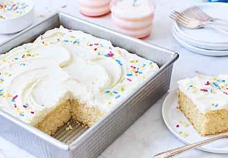 Vanilla Cake Pan Cake
