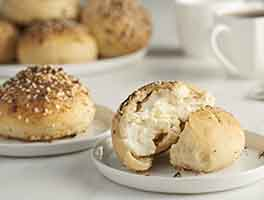 Stuffed Bagel Buns