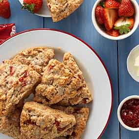 Strawberries & Cream Scones