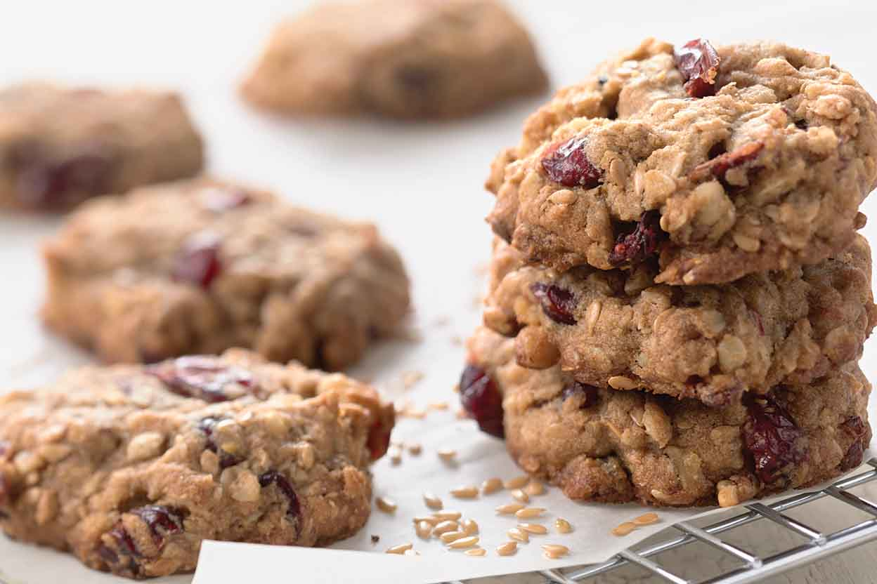 Oatmeal and Flax Cranberry Cookies Recipe | King Arthur Flour