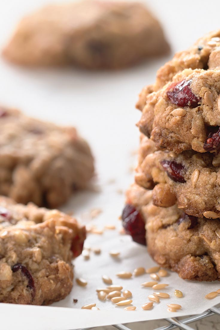 Oatmeal and Flax Cranberry Cookies  Recipe