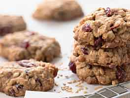 Oatmeal and Flax Cranberry Cookies