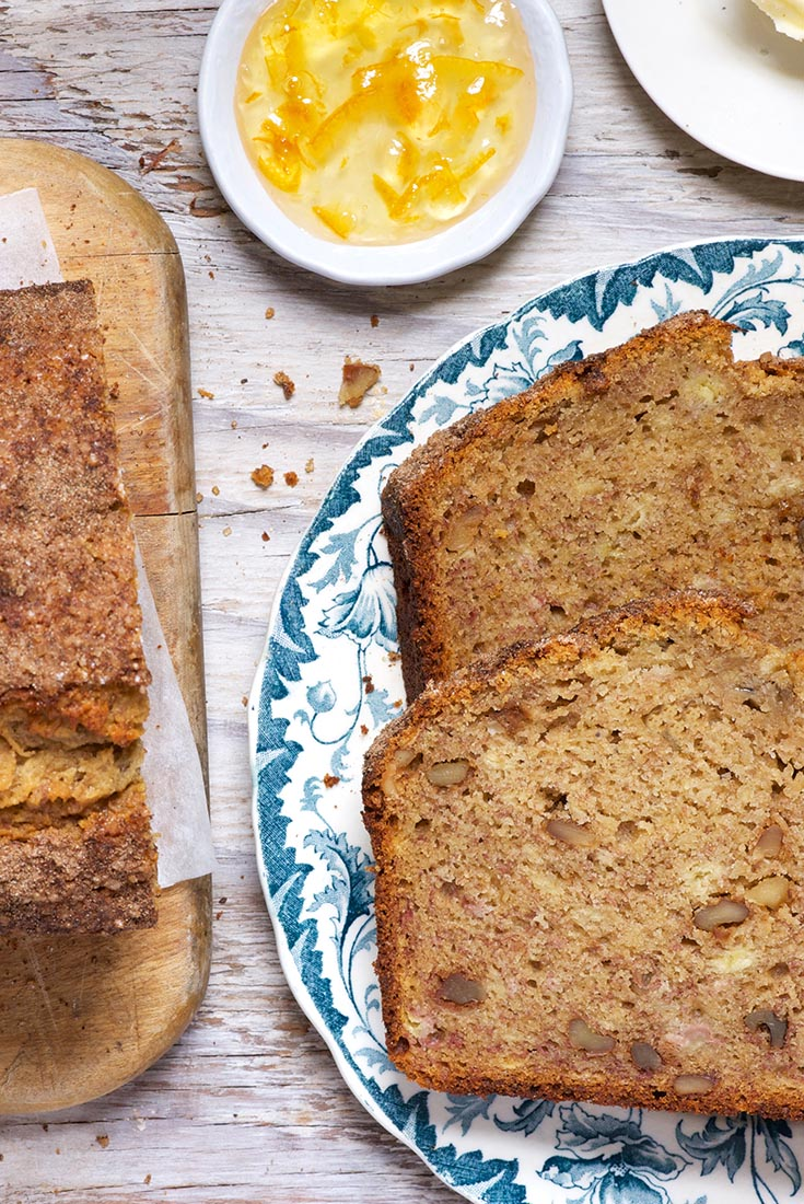 100% Whole Wheat Banana Bread Recipe