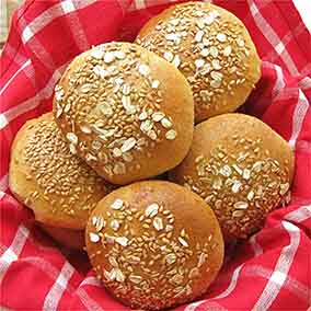 Wheat-Oat-Flax Buns